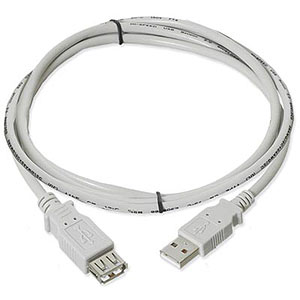 3ft. USB 2.0 Type A Male To Female Extension USB Cable, Beige ZT1310771 - Ziotek