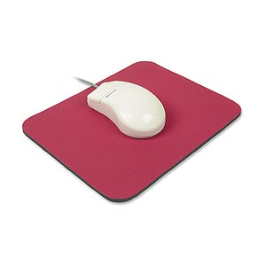 Mouse Pad, Foam, 9in X 8in, Red ZT1070120 - Ziotek