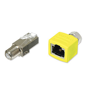 Snap-in Coax Male To Female Combo Kit Yellow XRJAX 7101-Y - XMultiple