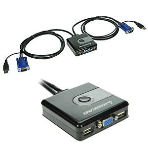 Port Compact USB VGA KVM Dark Gray GCS42UW6