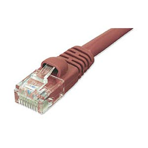 1ft CAT5e Network Patch Cable W/ Boot, Red ZT1195133 - Ziotek