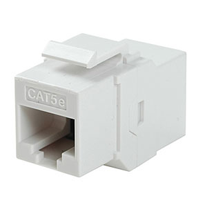 CAT5e Inline Faceplate Coupler, White ZT1800584 - Ziotek