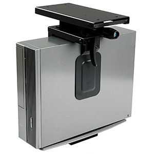 Mini CPU Holder, Sliding/Rotating Under Desk Mount ZT1080153 - Ziotek