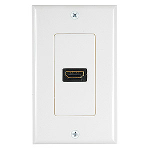1 Port HDMI Wall Plate, Off White - Universal
