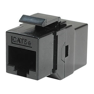 RJ45 CAT5 / 5e In-Line Coupler Keystone Jack, Black ZT1800517 - Ziotek