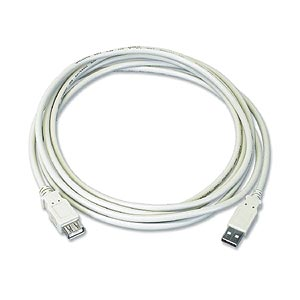 10ft. USB 2.0 Type A Male To Female Extension USB Cable, Beige ZT1310790 - Ziotek