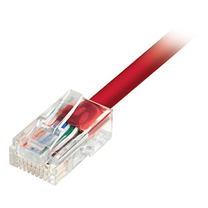 7ft Cat5e UTP Patch Cable, Red - Universal