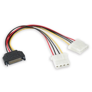 SATA To 4 Pin Molex Power Adapter Cable, 6in. 2M - Universal