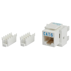 Cat6 8P8C Keystone Panel Jack, White - Universal