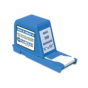 Wire Label Dispenser, .75in X 1.2in, 300 Labels RW51 - ZipTape