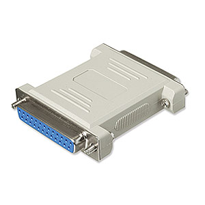 Null Modem Adapter DB25 Female To DB25 Female ZT1310280 - Ziotek