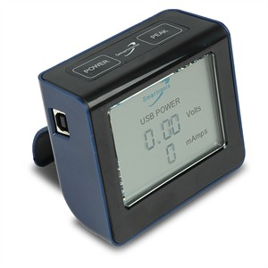 USB Power Monitor W/ LCD Screen, Black ST034TT05-01-001 - Smartronix