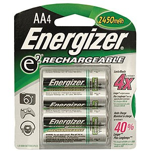 Rechargeable AA Battery, NiMH, 2300mah, 4 Pack NH15BP-4 - Energizer