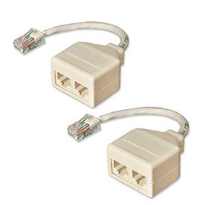 Network Pair Splitter 10BaseT Cat5, 2 Pack 68TA-C501-M2F - IC Network