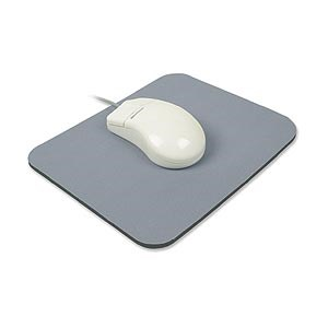 Mouse Pad Natural Rubber, 9in X 8in, Gray ZT1070155 - Ziotek