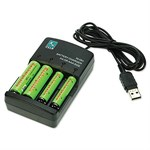Versatile USB Turbo Battery Charger For AA And AAA CG-10 - A4tech