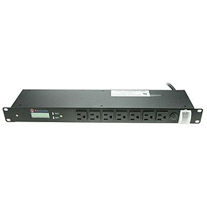 17 Outlet Rack Mount PDU, 1U , 15A, Black MS1917-LCD - A Neutronics