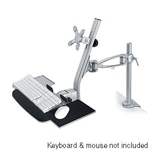 Adjustable LCD Keyboard Combo Mount, Desk Clamp ZT1110243 - Ziotek
