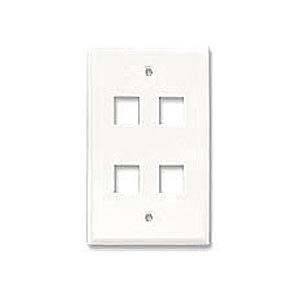 4 Hole Keystone Faceplate, White ZT1800235 - Ziotek