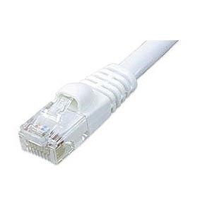 1ft CAT5e Network Patch Cable W/ Boot, White ZT1195132 - Ziotek