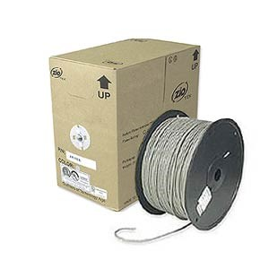 1000ft. CAT5e Solid Core Bulk Cable, Gray ZT1205345 - Ziotek