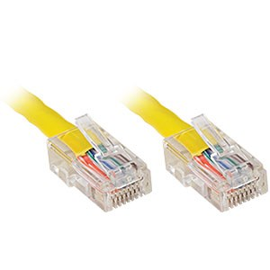 100ft. CAT5e UTP Patch Cable, Yellow - Universal