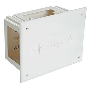 4 Gang Recessed Media Box, White 45-0010 - DataComm