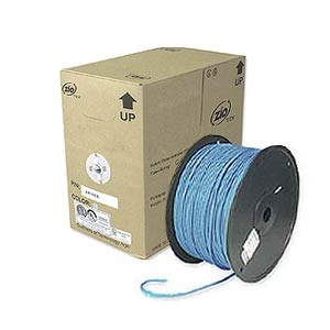 1000ft. CAT5e Solid Core Bulk Cable, Blue ZT1205350 - Ziotek