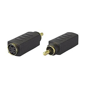 Mini Din 4 Female (sVideo) To RCA Male Adapter ZT1283220 - Ziotek