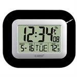Atomic Digital Wall Clock, Black WT-8005U-B - La Crosse