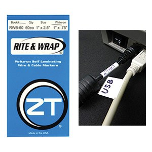 Rite And Wrap 1in. Wire Marker Booklet, 60 Labels RWB-60 - ZipTape