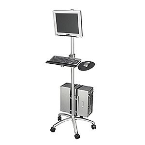 Aluminum Mobile Computing Workstation Cart ZT1110375 - Ziotek
