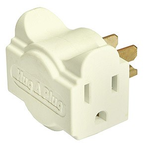 Dual Outlet Wall Adapter, Ivory DG1.S-IV - Hug A Plug