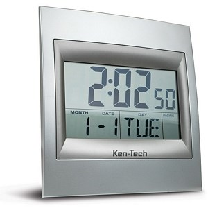 Large Digital Atomic Clock T4668 - Ken Tech