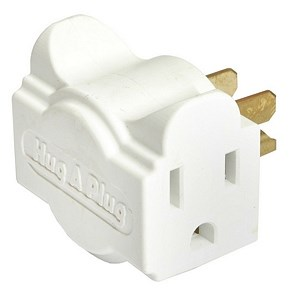 Dual Outlet Wall Adapter, 6 Pack , White DG1.B.6.48-WH - Hug A Plug