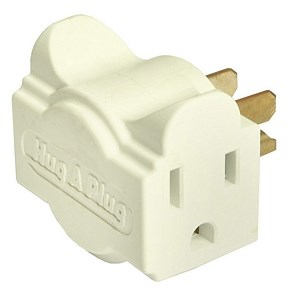 Dual Outlet Wall Adapter, Ivory, 6 Pack - Hug A Plug