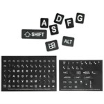 Large Print Keyboard Stickers, Black/White 51102-BLK - The Keyboard Company