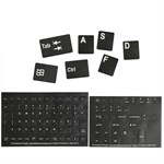 Alphanumeric Replacement Keyboard Stickers, Black/White 51101-BLK - The Keyboard Company