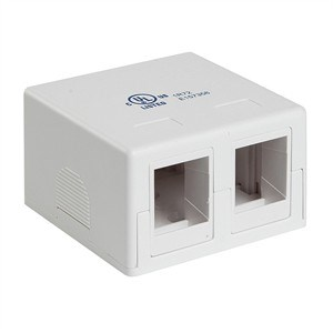 Keystone Surface Mount Box, Dual Port, White - Universal