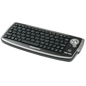 Wireless Compact Home Ent/Media Keyboard W/ Trackball And Scroll Wheel GKM681R - IOGEAR