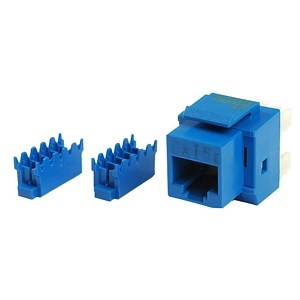 Cat5e 8P8C Keystone Panel Jack, Blue - Universal