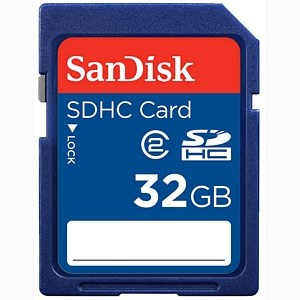 32GB SDHC Flash Memory Card, Class 2 SDSDB032-A11 - SanDisk