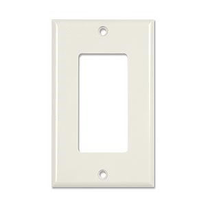 Decora 1 Hole Faceplate, White - Universal