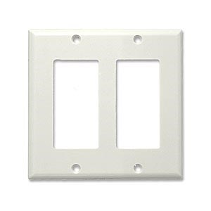 Decora 2 Hole Faceplate, White - Universal