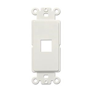Decora 1 Port Insert, White - Universal