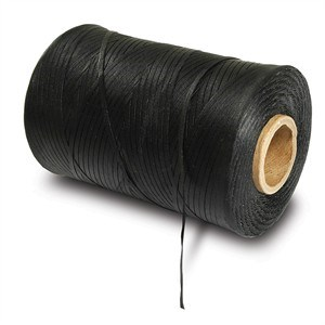 Waxed Lacing Cord, Black, 500 Yard Spool - Universal