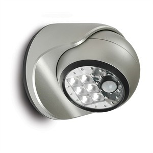 6 LED Motion Sensor Porch Light, Silver 20031-101 - Fulcrum