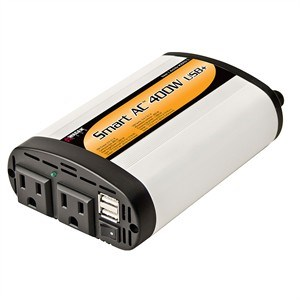 400 Watt DC To AC Power Inverter, 2.1A USB Port, 2 AC Outlets EL-2003-5 - Wagan