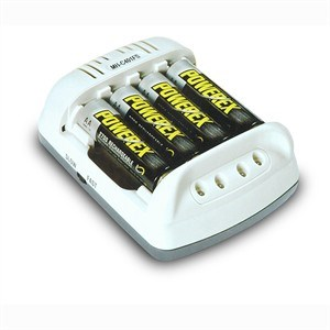 100 Minute Cool Portable Charger, AA/AAA, White MH-C401FS-DCW - PowerEx