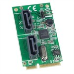 Mini PCI-e Card, 2 Port SATA 6G, Non-RAID - Universal